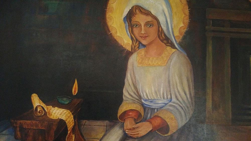 Pintura da irmã Maria de Pureza